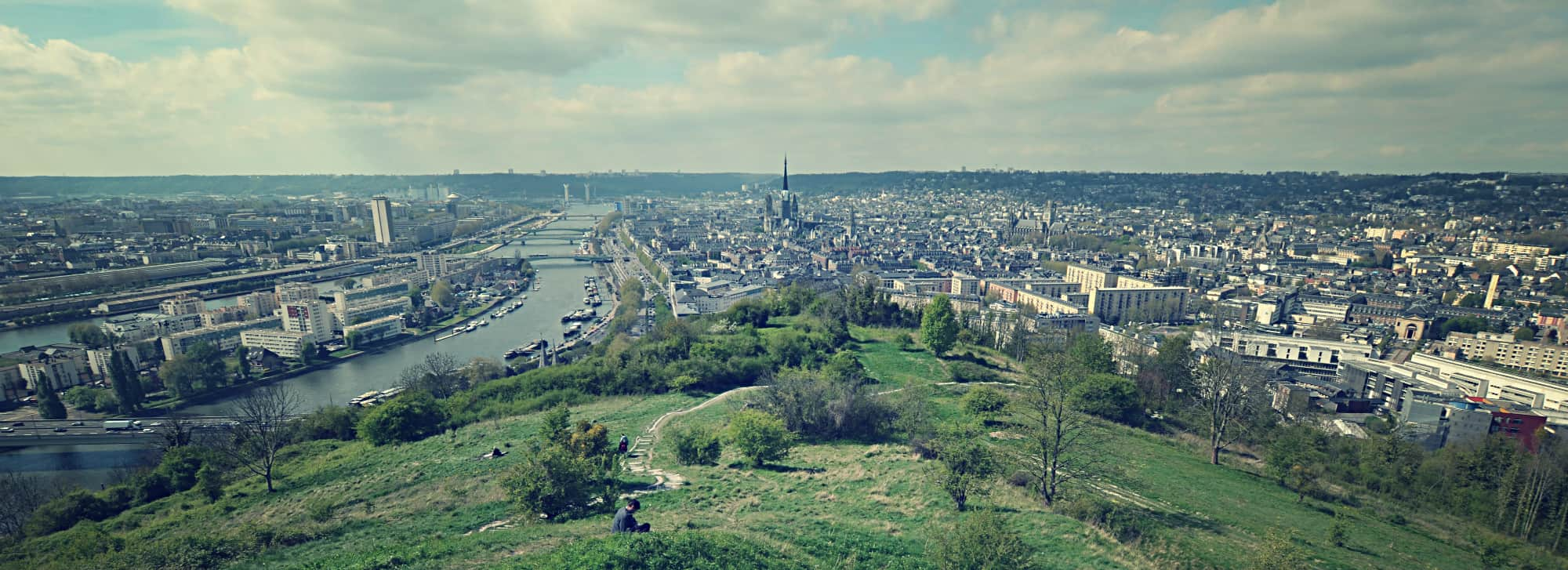 Colline Sainte Catherine Rouen Bonsecours Normandie Panorama