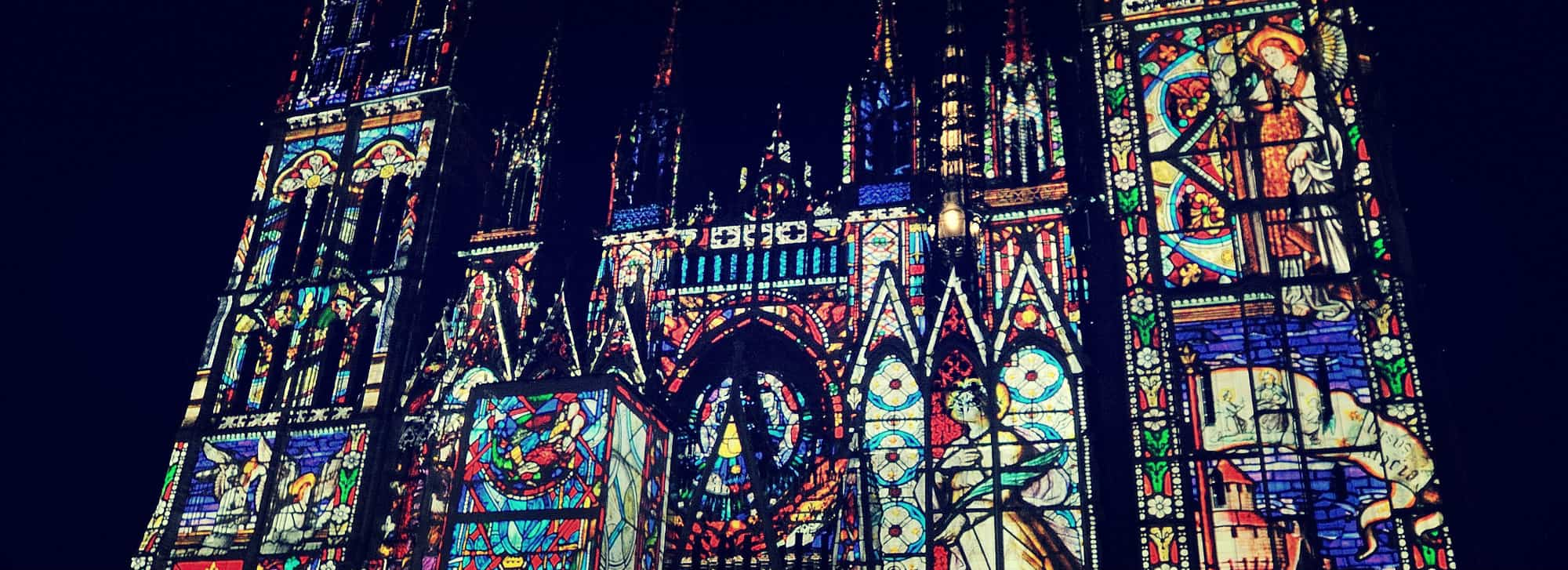 Spectacle Cathedrale Lumier