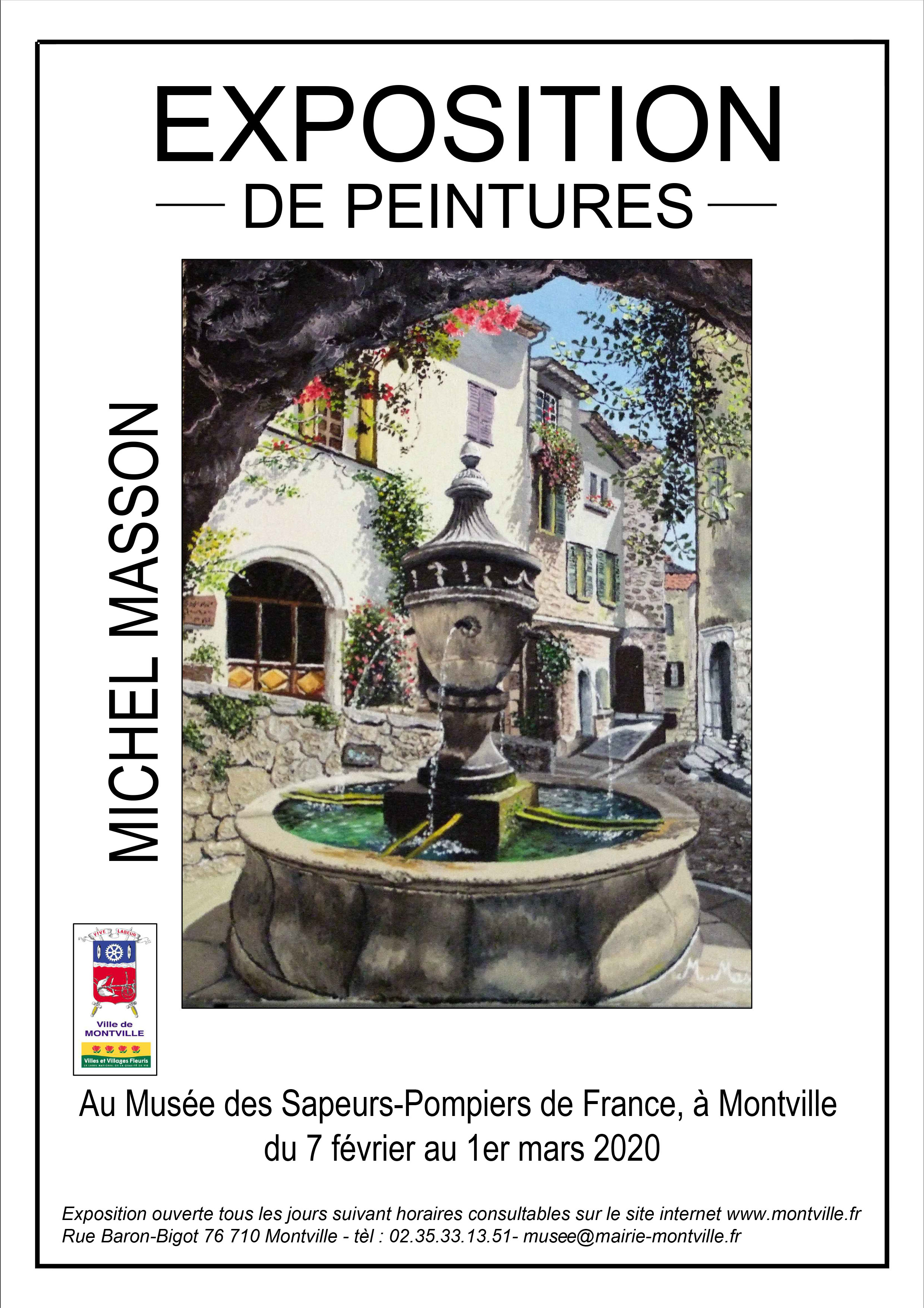 Exposition de peintures de Michel Masson