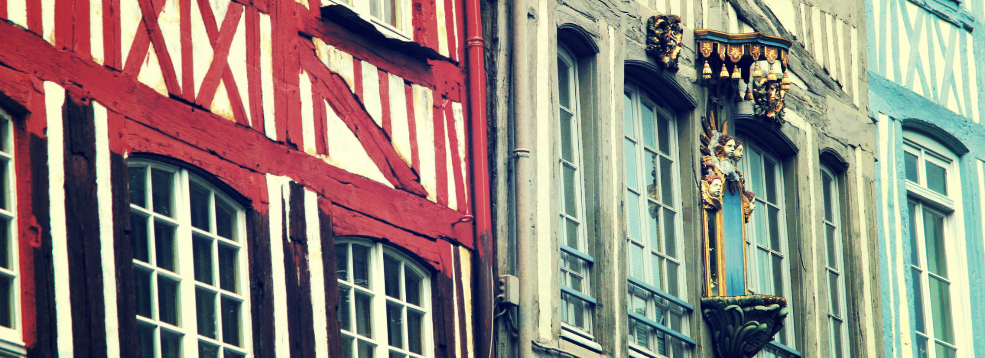 Rouen's traditional timber-framed houses